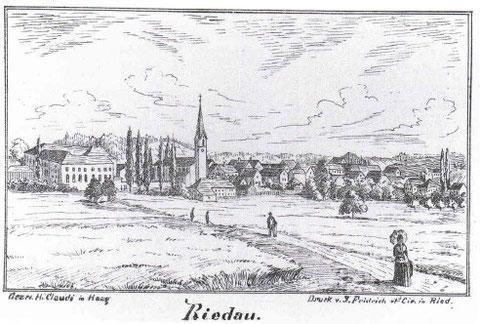 Riedau um 1890