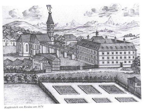 Kupferstich von Riedau um 1674