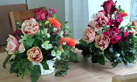 2月の生花 チアフルコース