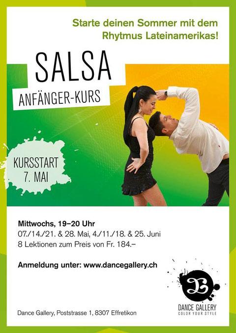 Salsa Anfänger und Fortgeschrittene Kurse Effretikon Zürich Oberland Winterthur Emma Carrera Jose Garcia Dance Gallery
