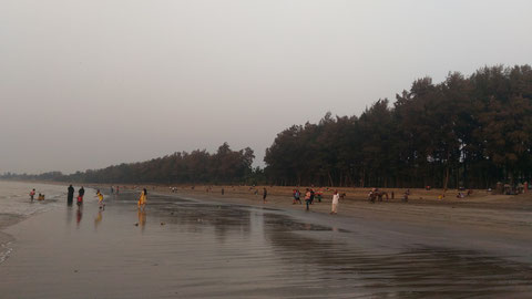 Dahanuの海岸。インド西海岸なので目の前に広がるのはアラビア海だ。