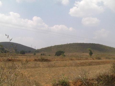 東ガート山脈はこんな緩やかな地形