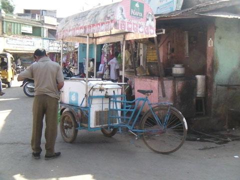 自転車のアイスクリーム屋さん