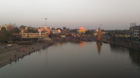 Khunb Melaも開かれる大きな沐浴場、Panchvati。