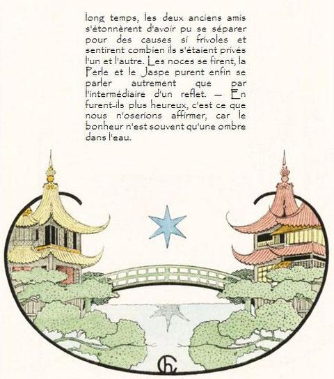 Théophile Gautier. Le Pavillon sur l'eau, conte chinois. le bonheur n'est souvent qu'une ombre dans l'eau...