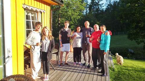 v.l. :Jack, Lucy, Tom, Marita, Ralf, Rene, Debby