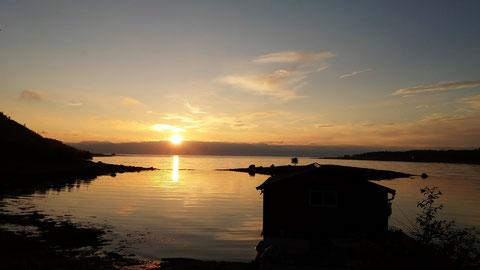 1:30 Uhr Blick auf Meer von unserer Terrasse