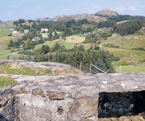 Blick von Nordberg Fort auf das Meer