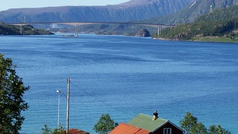 Blick auf die Raftsundbrücke
