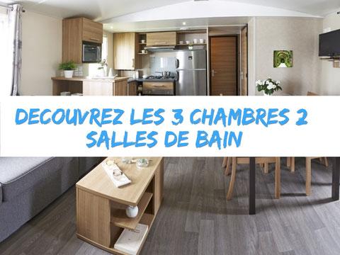 Location De Mobil Home  Chambres Et  Salle De Bain Pour