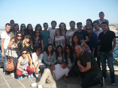 Grupo erasmus en Malta 17-21 abril 2013