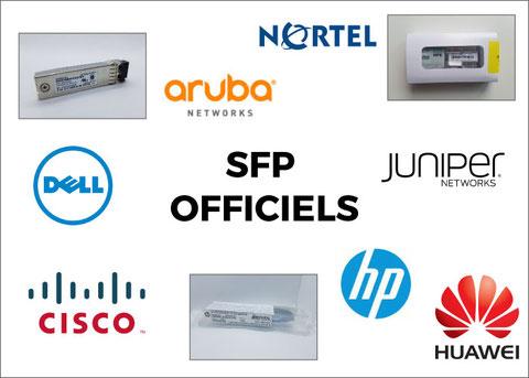 SFP officiels distribués par Module Fibre