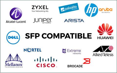 Offre SFP compatibles tous constructeurs de module fibre