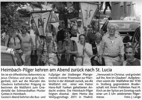 Stolberger Zeitung  24.5.2011