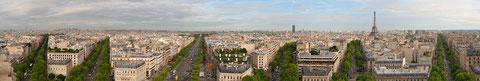 Paris depuis l'arc de triomphe