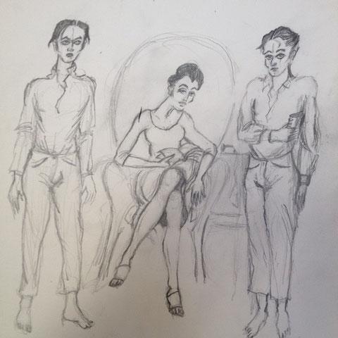 Lindo, Dolores et Ricardo dans la chambre du motel de Santa Monica.