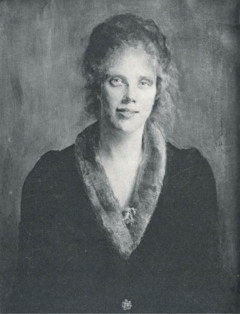 Louise Breslau - Madeleine Zillhardt con cuello de piel