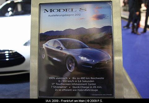 Telsa Model S Auslieferungsbeginn 2012
