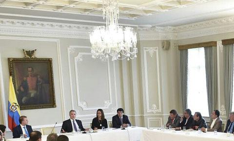 reunion con el presidente duque