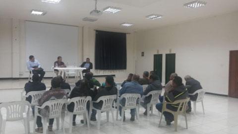 reunión en Salento Quindio tema seguridad social