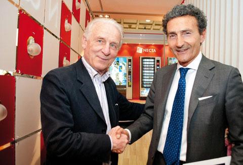 Trappatoni und der CEO von N&W Italien auf einem Titelfoto des Branchenkuriers