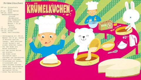 Glutenfreier Krümelkuchen, Illustration: Pan y Peter