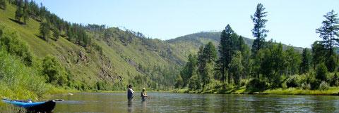 Méandre sur la rivière Yeroo Khentii