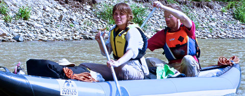 Descente rivière Yeroo canoë raft Mongolie