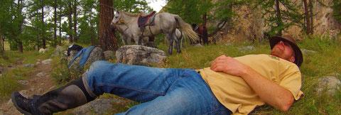 A l'heure de la sieste en Mongolie