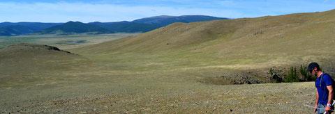 Gérome dans la steppe mongole