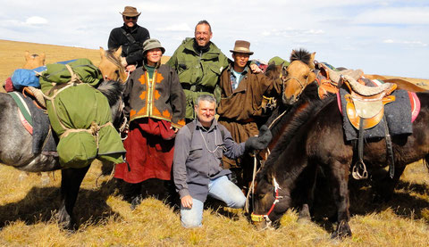 Expédition trappeur à cheval en Mongolie