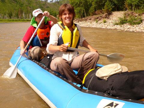 2 pers par Raft avec sac étanche pour le transport de l'équipement: de camping, de cuisine et la nourriture