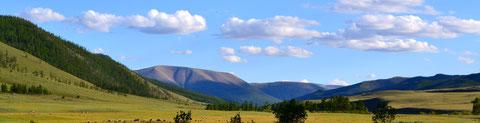 La vallée en direction du lac Bleu
