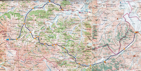 Carte relevé GPS expé cheval