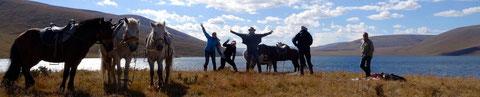 Petit groupe à 4 pers maxi à cheval en Mongolie