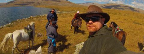 Col d'altitude massif du Khangai Mongolie