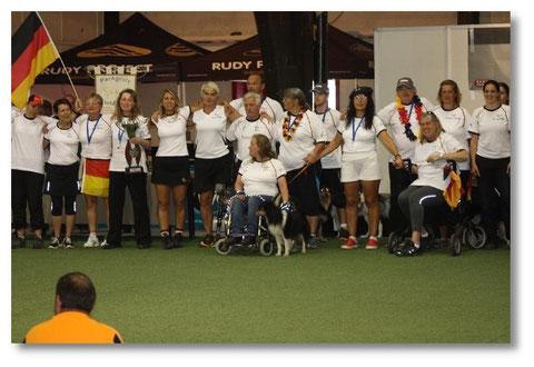 """Ein unglaublicher Moment!! Wir sind """"Best Country of IMCA & PAWC 2012""""!!! :-)"""