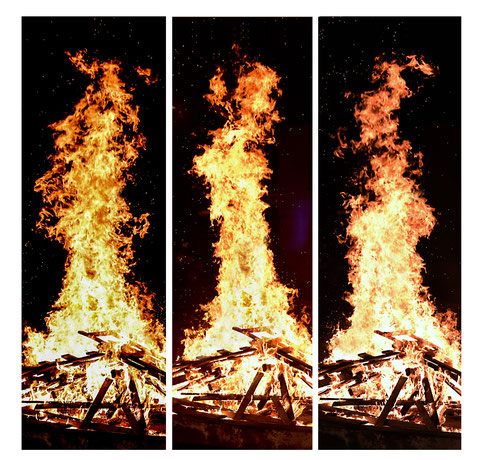 """3 x Feuer"", Fotografie © Hartmut W. Schmidt"