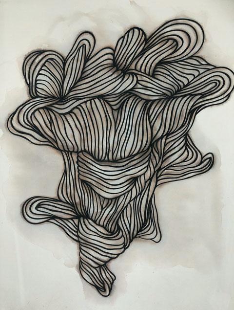 © Dietrich Schön | o.T. | 2019 | Tusche auf Baumwolle | 180x140 cm