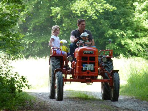Ausfahrt mit dem Traktor