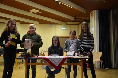 Die Klassensieger der 6. Klassen traten zum Schulentscheid im Forum des Gymnasiums Stolzenau an