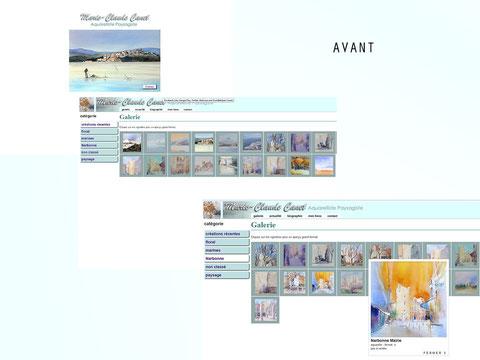 Refonte site internet Marie-Claude Canet vu avant