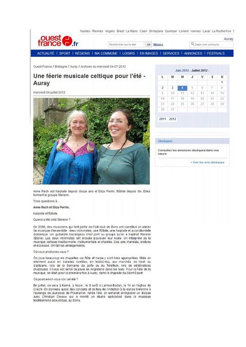Une féérie musicale celtique pour l'été 2012
