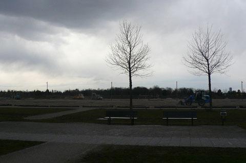 Bauarbeiten am 4. Bauabschnitt in der Messestadt