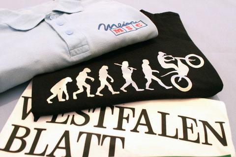 Flexbedruckte T-Shirts