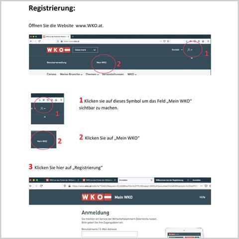Registrierung bei »Meine WKO«