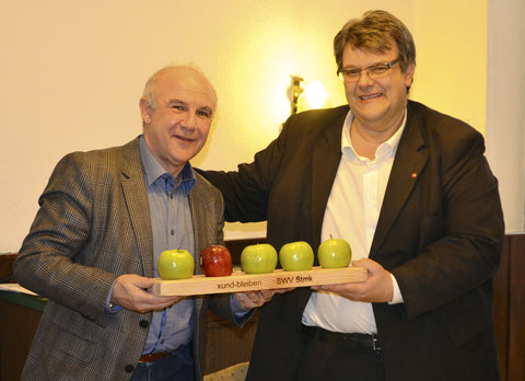 Bundesobmann der Sparte Handel KR Akan Keskin (l.) und  SWV-Präsident Karlheinz Winkler (r.)