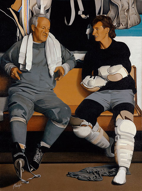 Howe - Gretzky by Joachim Thiess, the hockey collection
