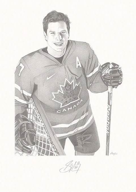 Sidney Crosby by Joachim Thiess, the hockey collection