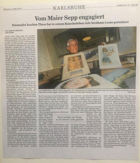 Pressebericht über Joachim Thiess
